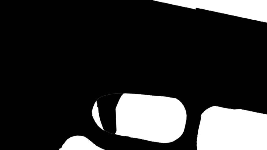 firing gun animation silhouette