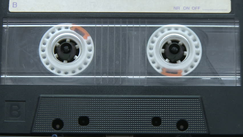 Vintage audio cassette playing