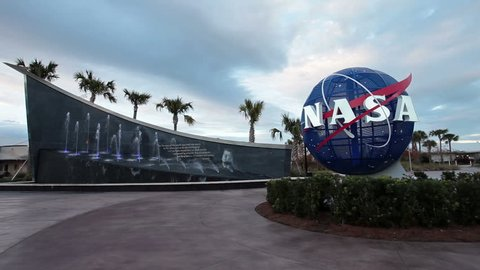 KENNEDY SPACE CENTER, FLORIDA 0 JAN 2014: National Aeronautics and Space Administration of United States government responsible for civilian space program and for aeronautics and aerospace research.
