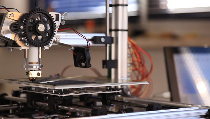3D Printer Wire | Printing With Plastic Wire Filament Stock Footage Video 100