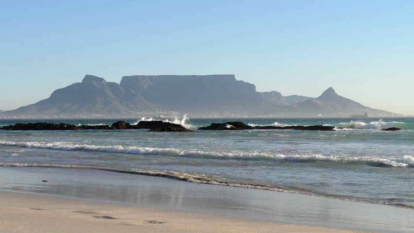 View from Bloubergstrand to Cape Town (South Africa)