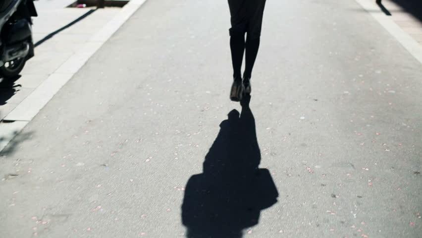 Businesswoman walking on street, steadycam shot.  | Shutterstock HD Video #6193490