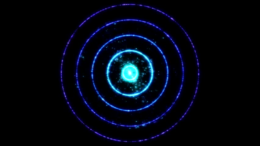 Colorful circles continuously expanding from the center. Seamlessly loopable. | Shutterstock HD Video #6194981