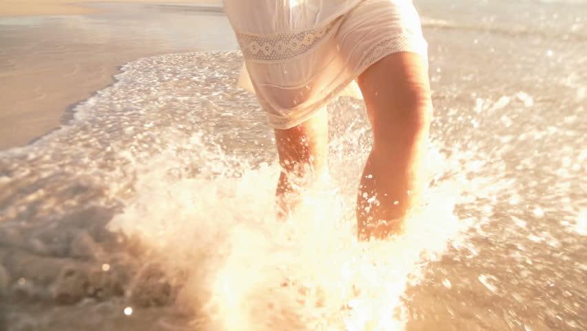Girl is splashing water