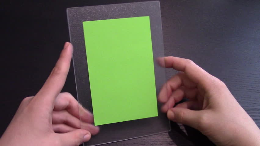 Woman uses a transparent tablet PC at his desk, green screen | Shutterstock HD Video #6207830