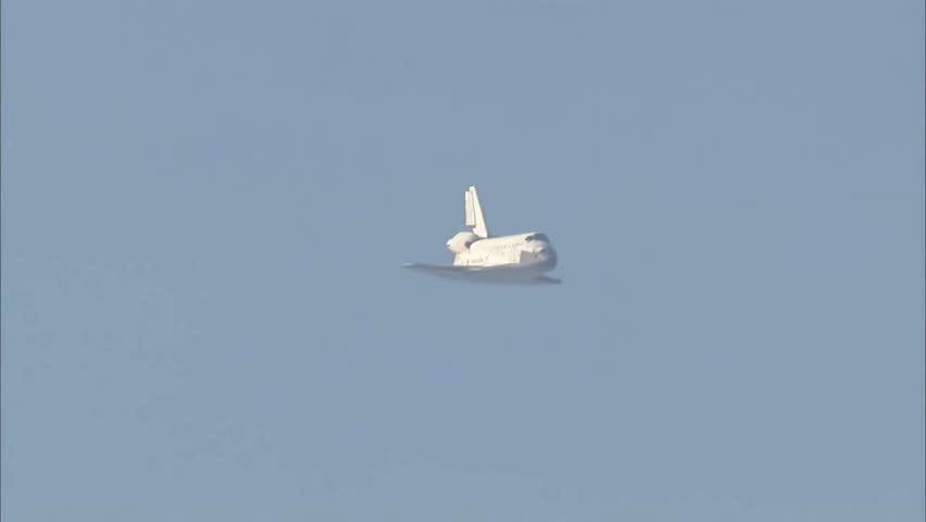 CIRCA 2010s - The Space Shuttle Atlantis landing.