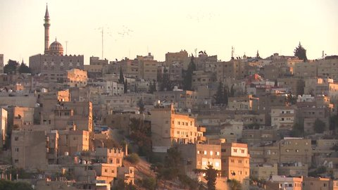 AMMAN, JORDAN CIRCA 2013 - A wide shot of neighborhoods near Amman, Jordan.