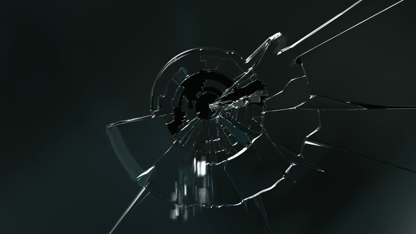 Broken glass. High quality animations of broken glass.