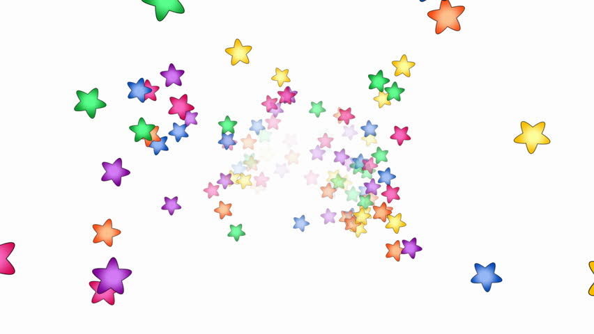 Colorful star animation - seamless looping, alpha channel included