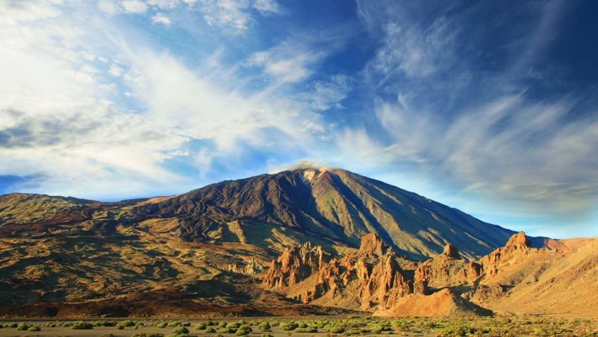 Mountain landscape, Teide volcano view, Canary islands, Spain. Time-lapse. | Shutterstock HD Video #6341660