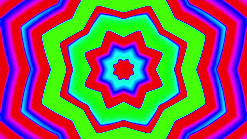 My Trippy Kaleidoscope Vj Background Stock Footage Video 100
