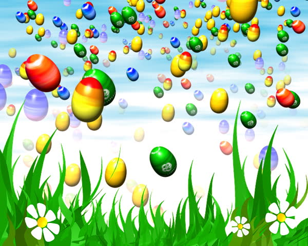 Easter 3d animation - LOOP