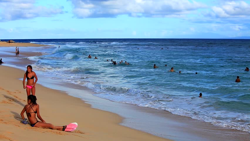 Sandy Beach Is Known For Its Excellent Bodyboarding And Bodysurfing Opportunities Stock Footage Video 6406910