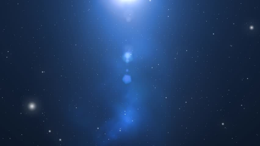 Star Field - animated motion background of star field and lens flares
