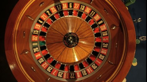 The small ball falls into the slot as the Roulette Wheel spins