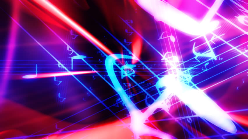 Looping Abstract Music Fly Through Animated Background