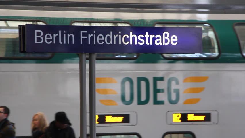 BERLIN, GERMANY - NOVEMBER 20: Friedrichstrasse train station November 20, 2013 in Berlin, Germany | Shutterstock HD Video #6466850