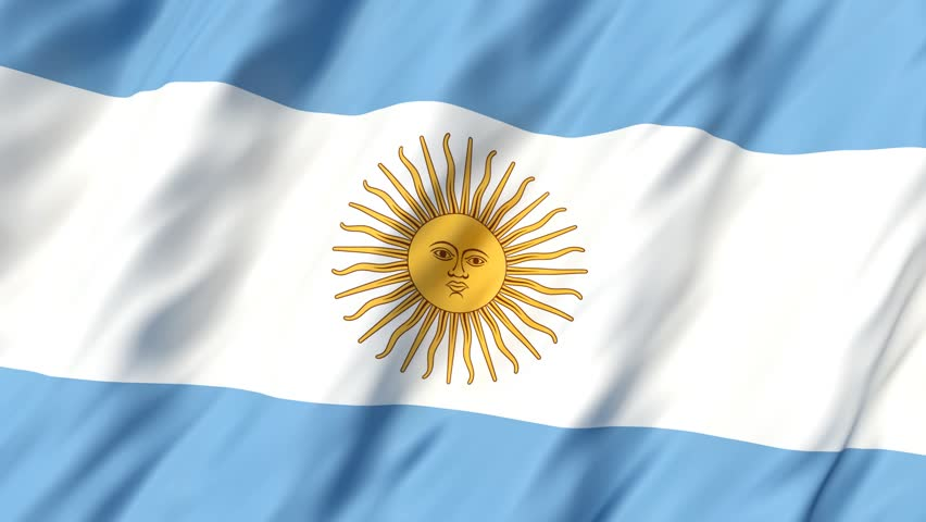 Rippled Textile Flag Of Argentina Stock Footage Video 100 Royalty
