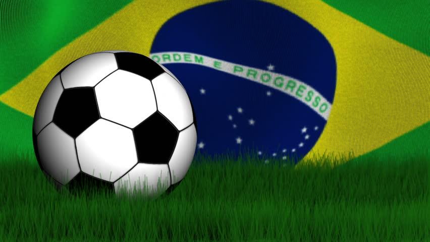 4b0fdd34c Soccer Ball, Brazilian Flag and Stock Footage Video (100% Royalty ...