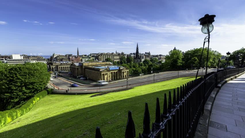Timelapse of Edinburgh Skyline Taken From The Mound