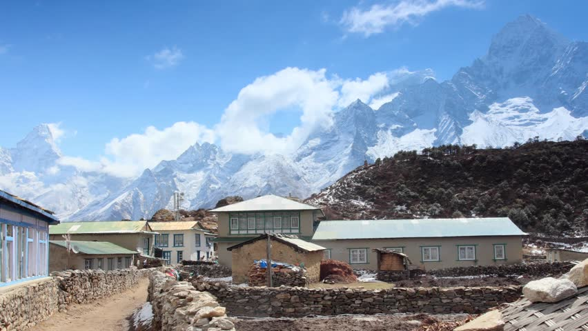 Movement of the clouds on the mountains Himalayas, Koshigaun village, Nepal. FULL HD  | Shutterstock HD Video #6530120