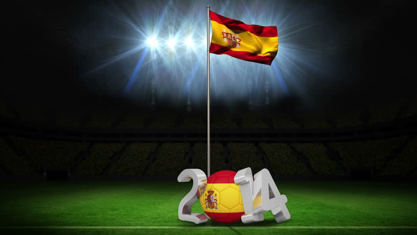 Spain National Flag Waving On Stock Footage Video 100 Royalty Free