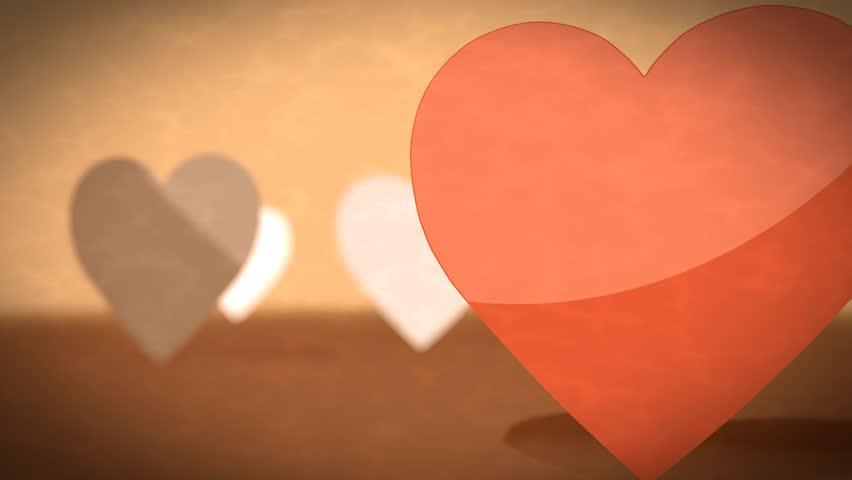 Stockvideo Van Retro Footage Of Heart Symbol In 6446621 Shutterstock