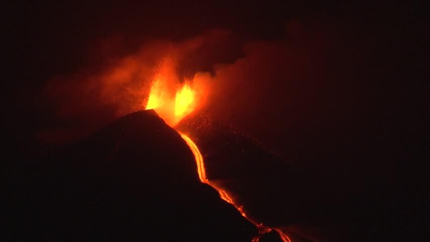 Header of volcano