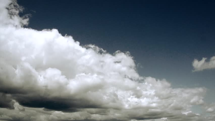Dramatic Sky with clouds. Rain clouds, timelapse. Time lapse. Thunder storm. Thunderstorm
