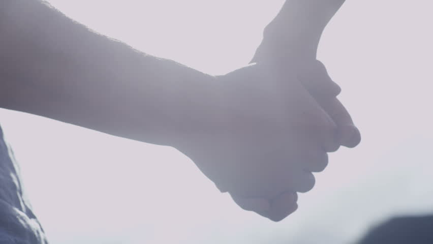 Young woman takes a man hand. shot on 4K RED camera #6622100