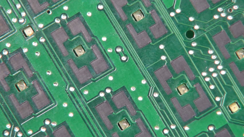 Closeup Of A Dip Switch On A Circuit Board
