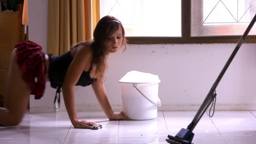 Sexy maid video clip