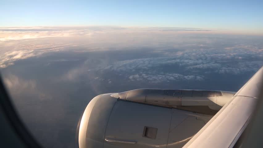video footage of a airplane with clouds #6750490