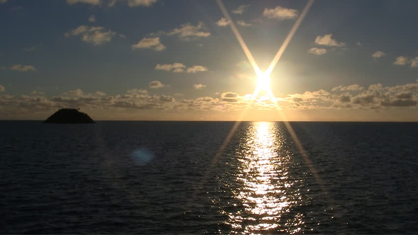 Beautiful sunrise on the caribbean sea in Providence island | Shutterstock HD Video #679600