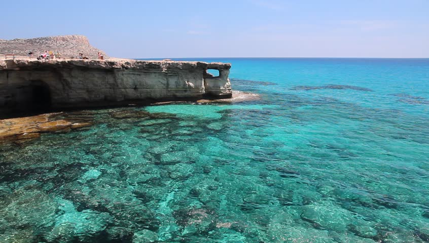 Cyprus Mediterranean Sea Coast Stock Footage Video 100