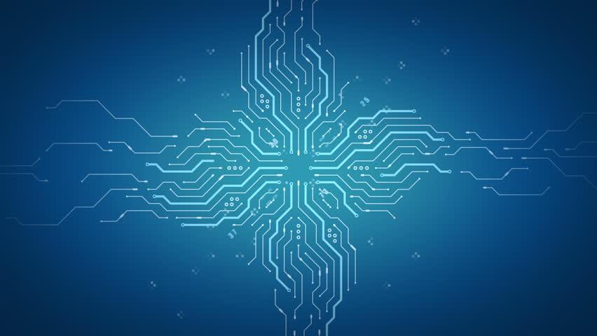Stock video of blue circuit board electronic hi-tech tree   2361830 ...