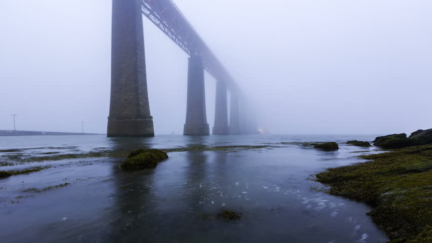 Timelapse of The Forth Rail Bridge in Fog