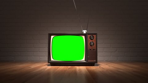 01568 Exhibition Of Old Retro Color Tv Sets With Antenna