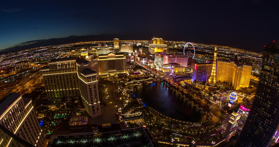 LAS VEGAS - CIRCA JULY 2014: The Strip at night zoom in 4k constant resolution | Shutterstock HD Video #6900880