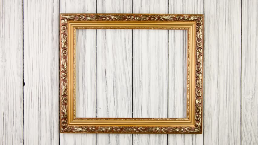 Frame On Old Wood Background Stock Footage Video (100% Royalty-free)  6901570 | Shutterstock