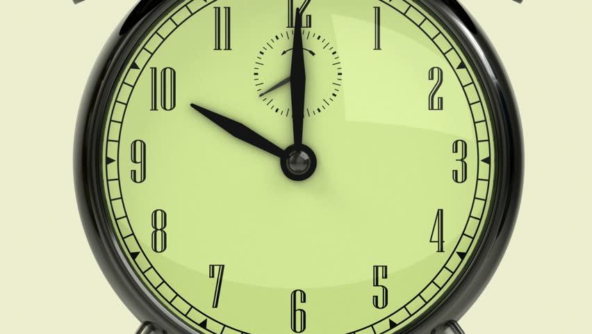 Time management concept. Arrow and three retro alarm clocks.   Shutterstock HD Video #690730