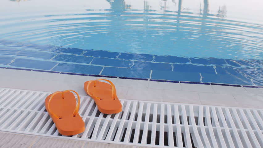 da5fdce4a5a Two Flip Flop Thong Sandals Stock Footage Video (100% Royalty ...