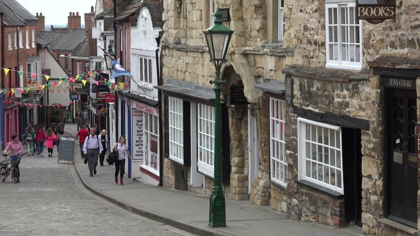 Lincoln, Lincolnshireuk - July 11, Stock Footage Video -8029