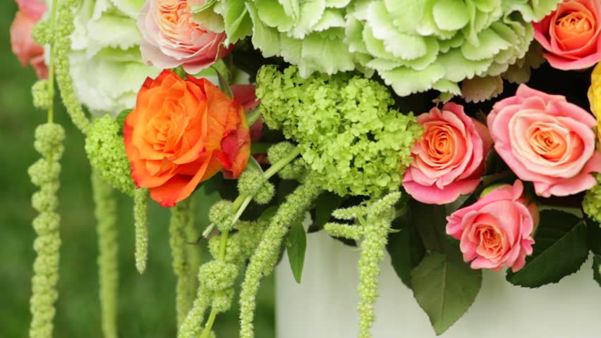 Beautiful Flower Bouquet Close Up Stock Footage Video 100