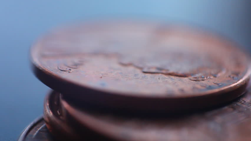 Telemacro of pennies with the 5d