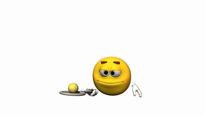 Looping Emoticon Animation: Tennis