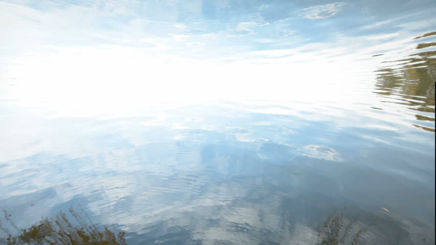Blue water motion background. Horizon over water. Upper third composition. | Shutterstock HD Video #700540