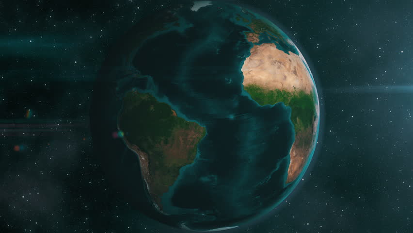 Earth zoom to Africa. 4K broadcast quality animation rendered at 32-bit float depth.