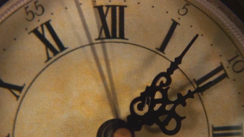 Time Lapse: Closeup Vintage Clock