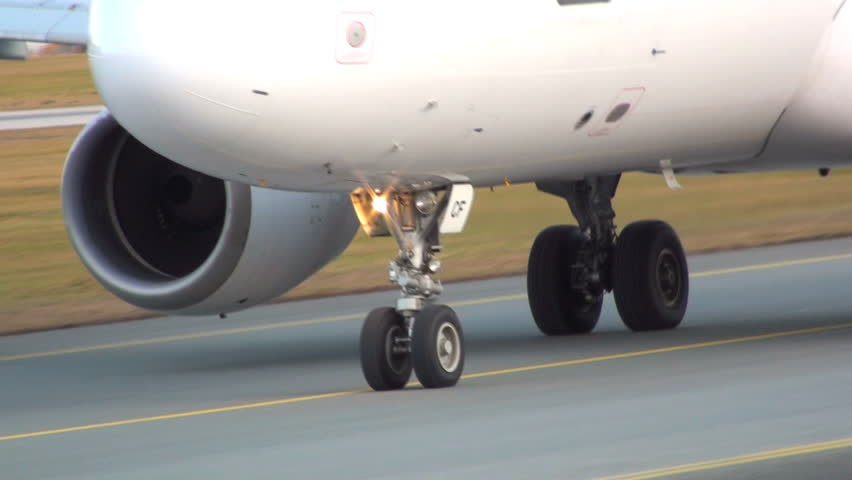 airplane on the taxiway/airfifeld